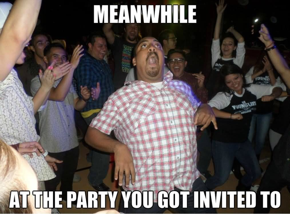 Party Meme meanwhile at the party you got invited to
