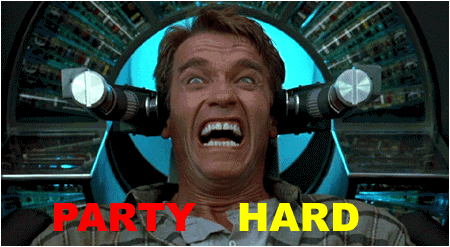 Party hard Funny Party Meme