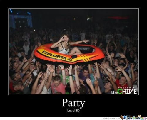 Party level 80 Party Meme