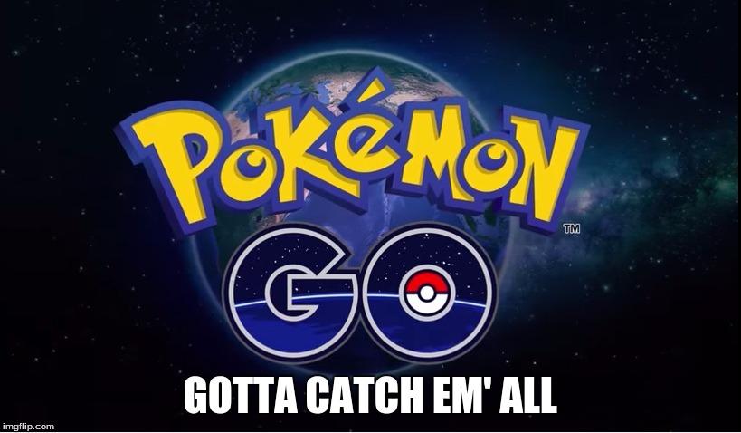 Pokemon Go Gotta Catch Em' All Pokemon Go Memes