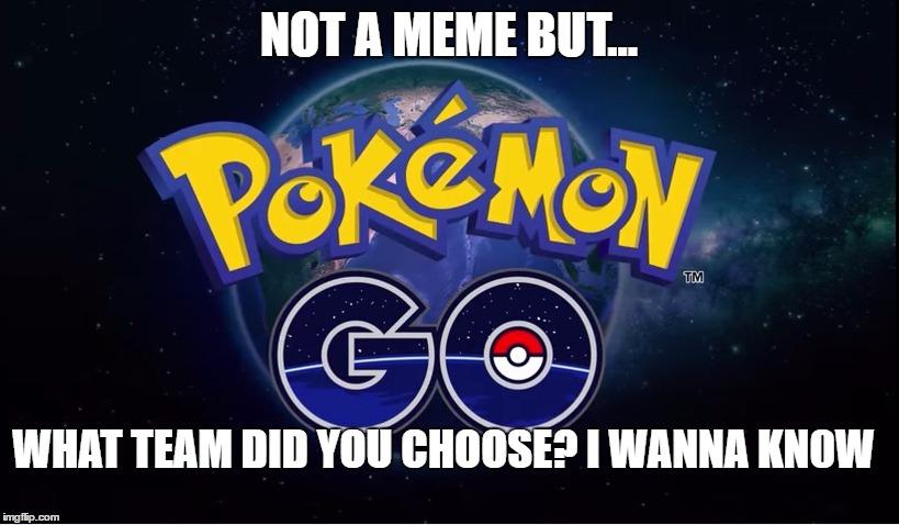 Pokemon Go Meme Not A Meme But What Team Did You Choose