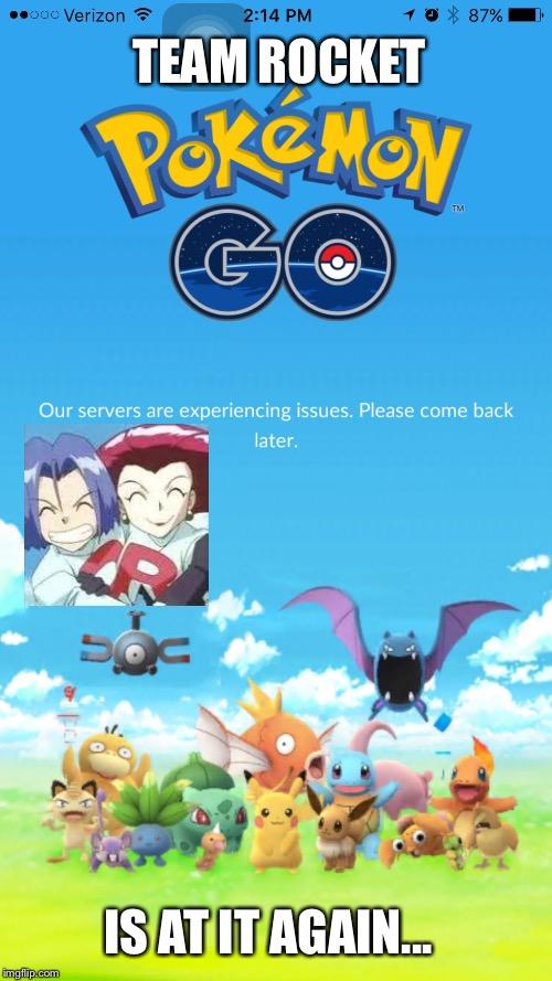 Pokemon Go Meme Team Rocket Pokemon Go Is At It Again