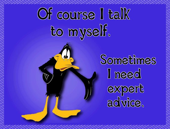Porky Pig Quotes of course i talk to myself sometimes