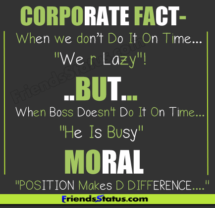 Position Quotes Corporate Fact When We Don T Do It On Time