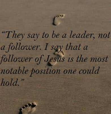 being a leader not a follower essay A follower not only follows the footsteps of his leader, but also supports and encourages him for doing better the relation between leadership and followership is straight a leader leads whereas a follower follows.