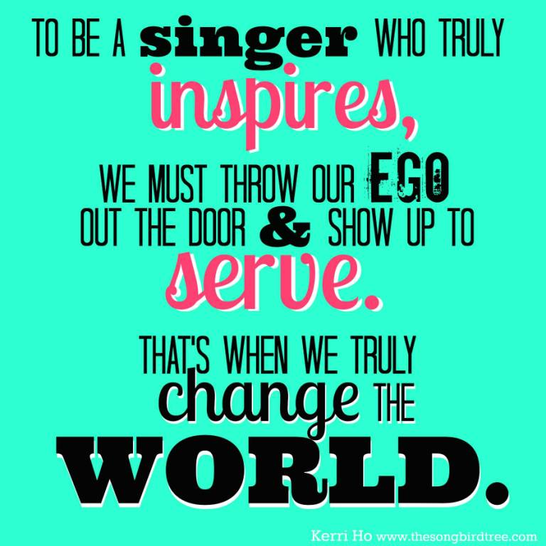 Singer Quotes to be a singer who truly inspires