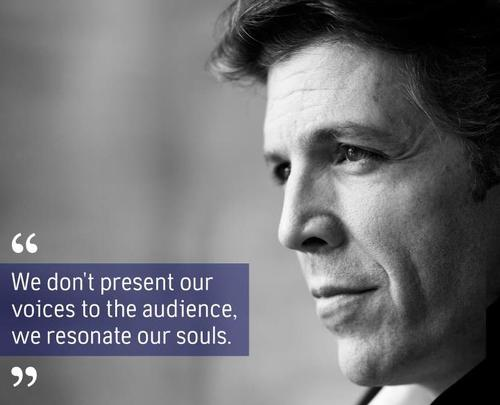 Singer Quotes we don't present our voices to the audience