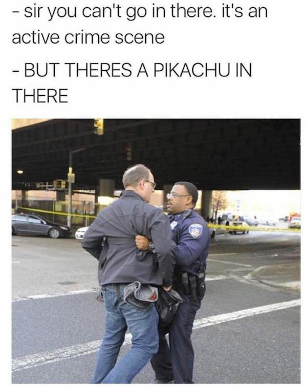 Sir You Can't Go In There. It's An Active Crime Scene Pokemon Go Meme