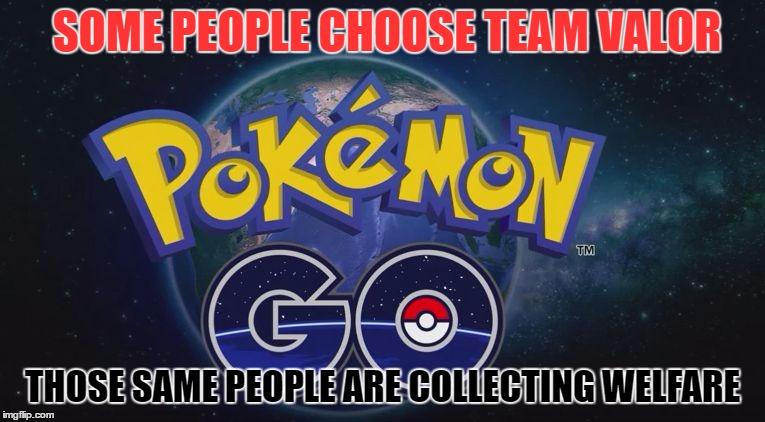 Some People Choose Team Valor Those Same People Are Pokemon Go Meme