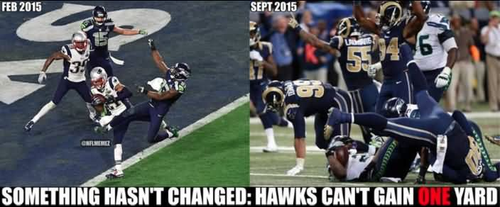 Something hasn't changed hawks can't American Football Memes