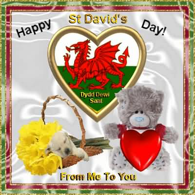 St David's Day Wishes Card For You Image