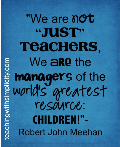 Teach Quotes we are not just teachers we are the