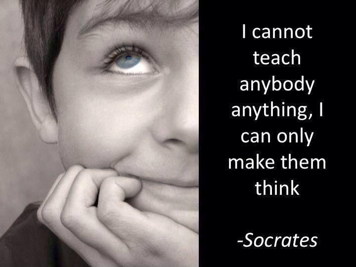 Teach Sayings i cannot teach anybody anything i can only make them think (2)