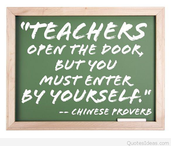 Teacher Quotes teachers open the book but you must
