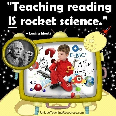 Teacher Quotes teaching reading is rocket science
