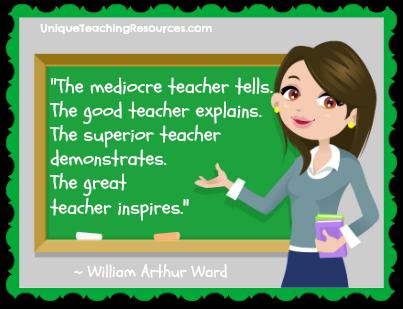 Teacher Quotes the mediocre teacher tells the good teacher explains the superior