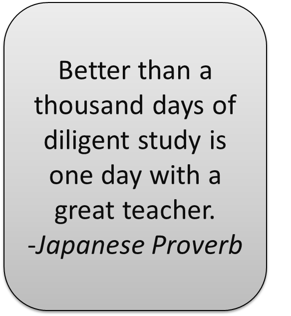 Teacher Sayings better than thousand days of diligent study is one day with a great teacher