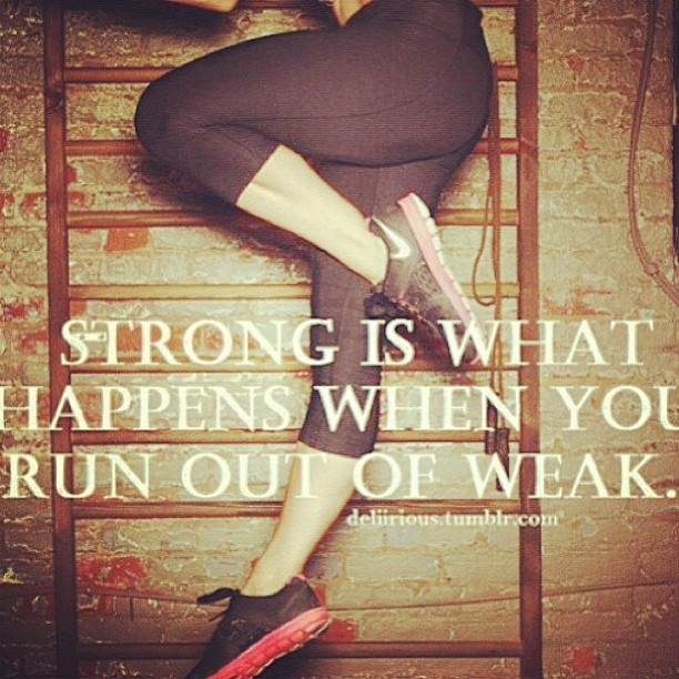 Thick Thighs Quotes strongs is what happens when you run out of weak