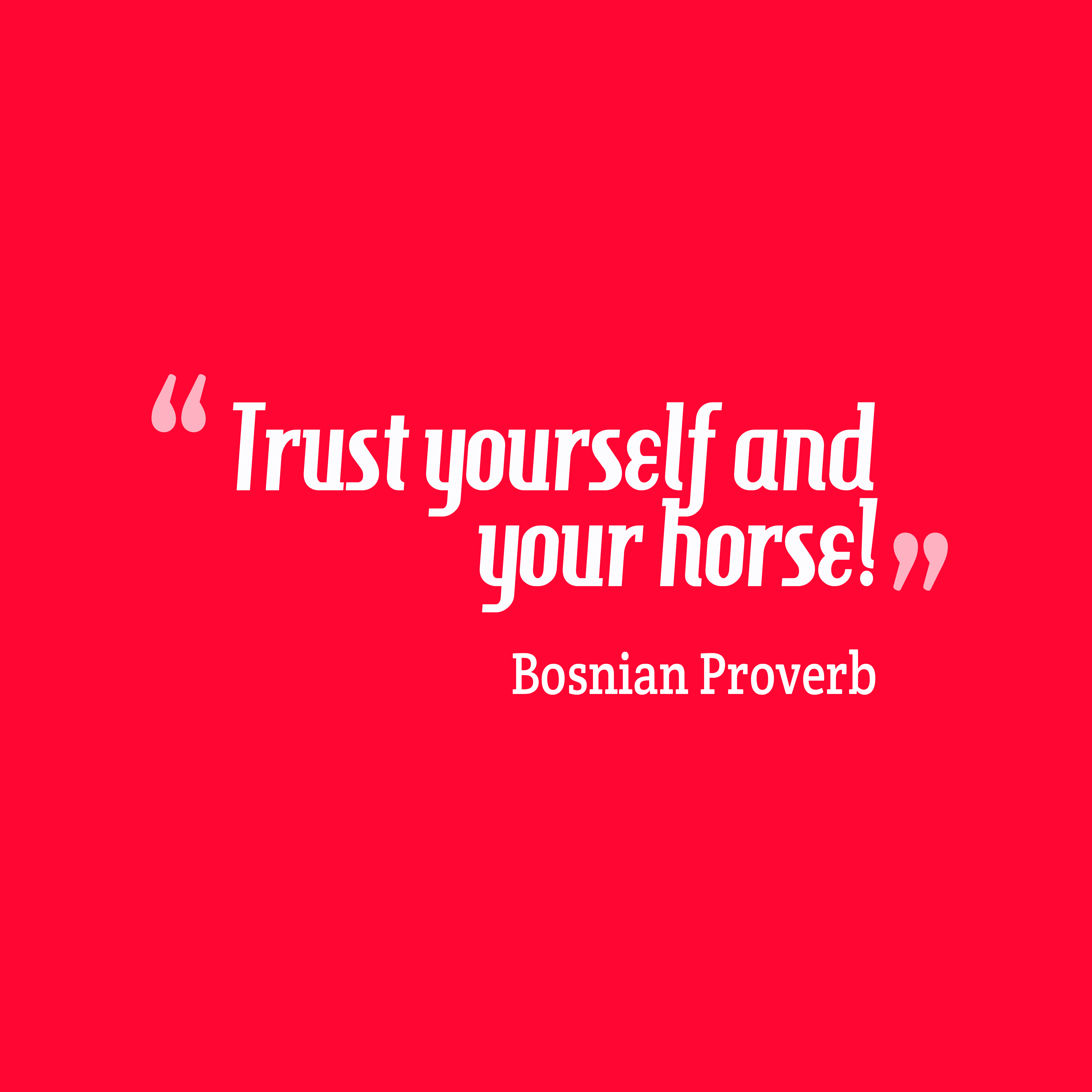 Trust Quotes Trust Yourself And Your Horse