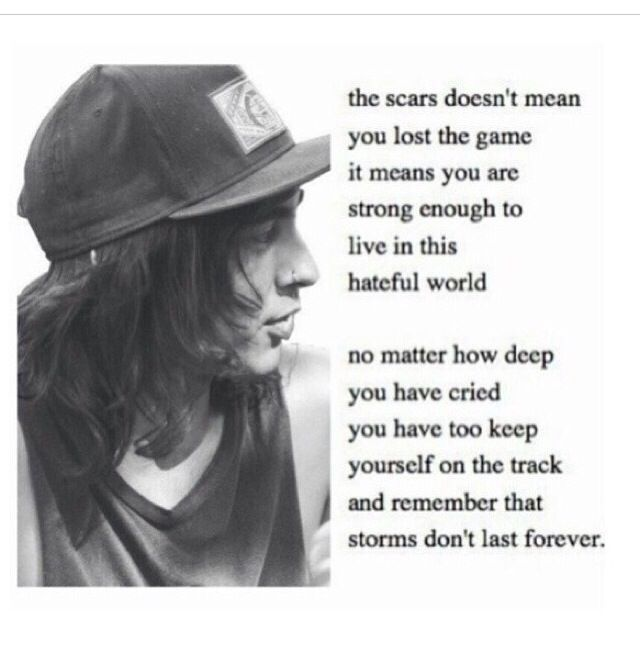 Vic Fuentes Quotes The scars doesn't mean you lost the game it means you are strong