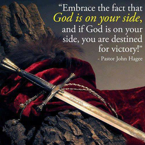 Victory Sayings embrace the fact that god is on your side