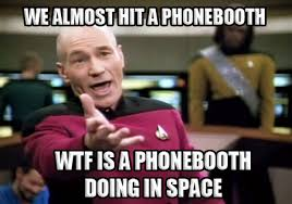 Funny WTF Memes We almost hit a phonebooth