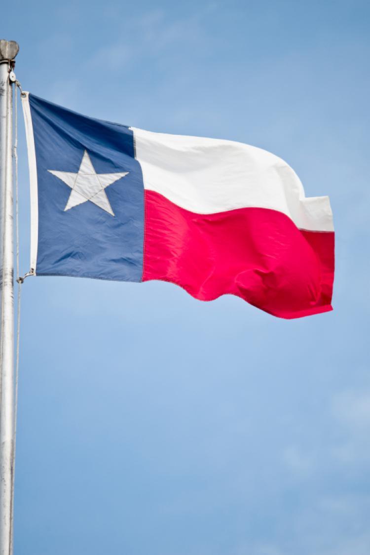 Wonderful Waving Flag Happy Texas Independence Day Wishes Flag Image