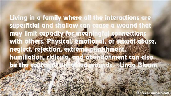 abandonment sayings living in a family where all the interactions are