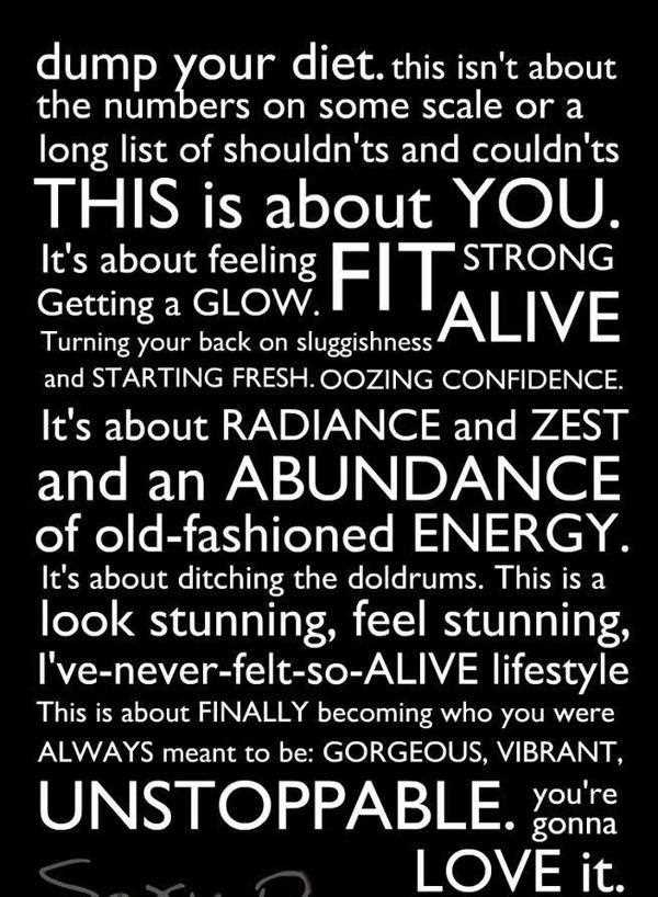 diet quote dump your diet this isn't about the numbers on some scale or a