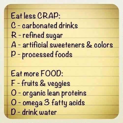 diet quote eat less crap c carbonated drinks