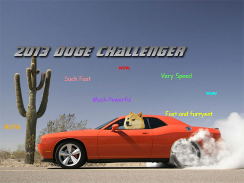 doge meme 2013 doge challenger wow such fast