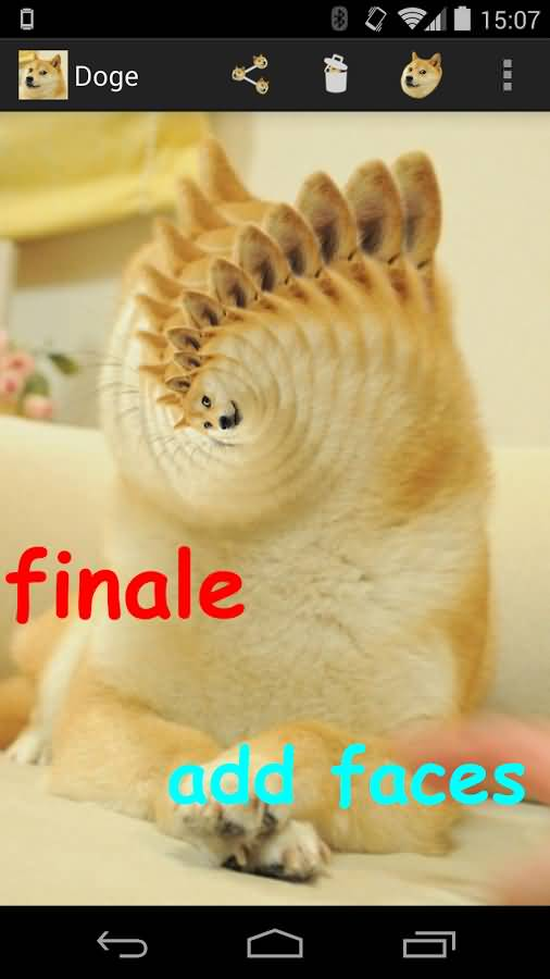 doge meme doge finale add faces