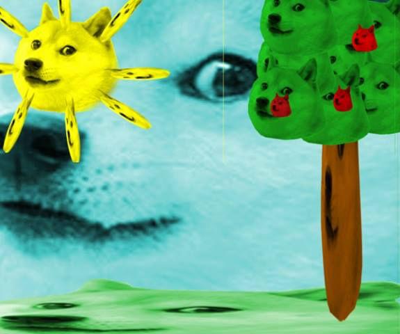 doge meme in tree doge meme