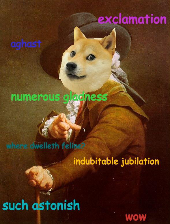 exclamation aghast doge meme