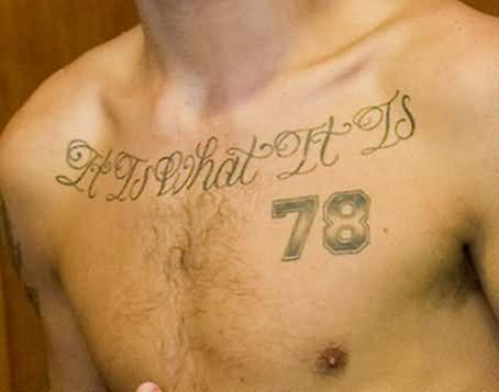 impressive louis tomlinson tattoos on Chest