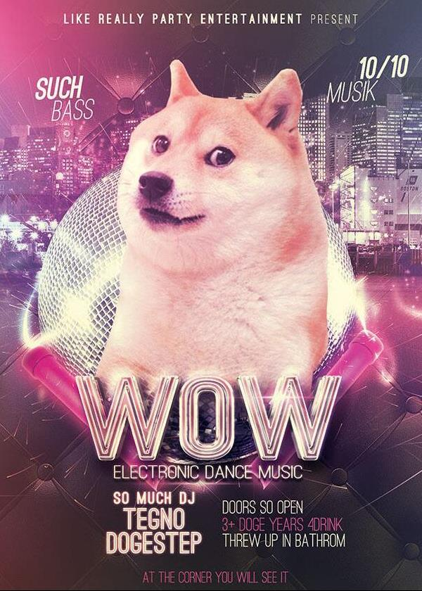 like really party entertainment present such bass doge meme