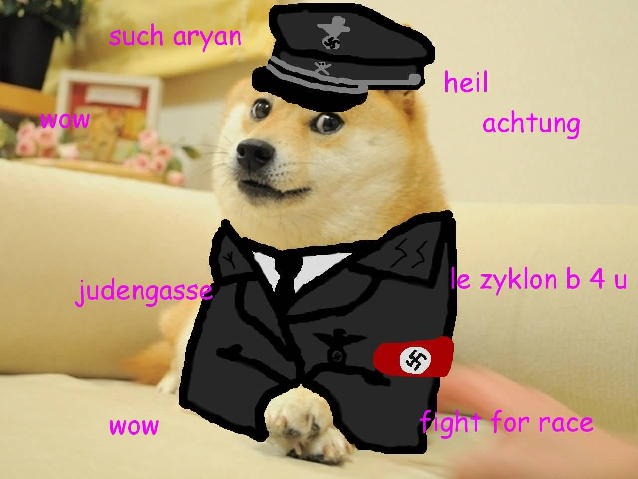such Aryan wow heil achtung judengasse doge meme