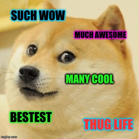 such wow much awesome doge meme
