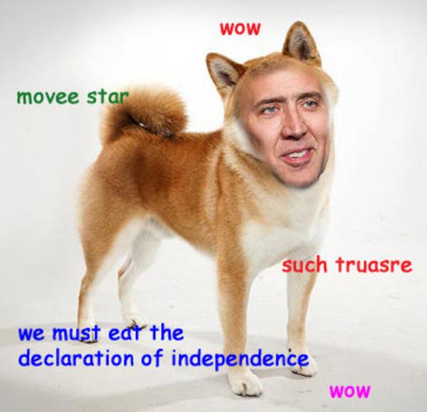 wow movee srar such truasre we must eat the doge meme