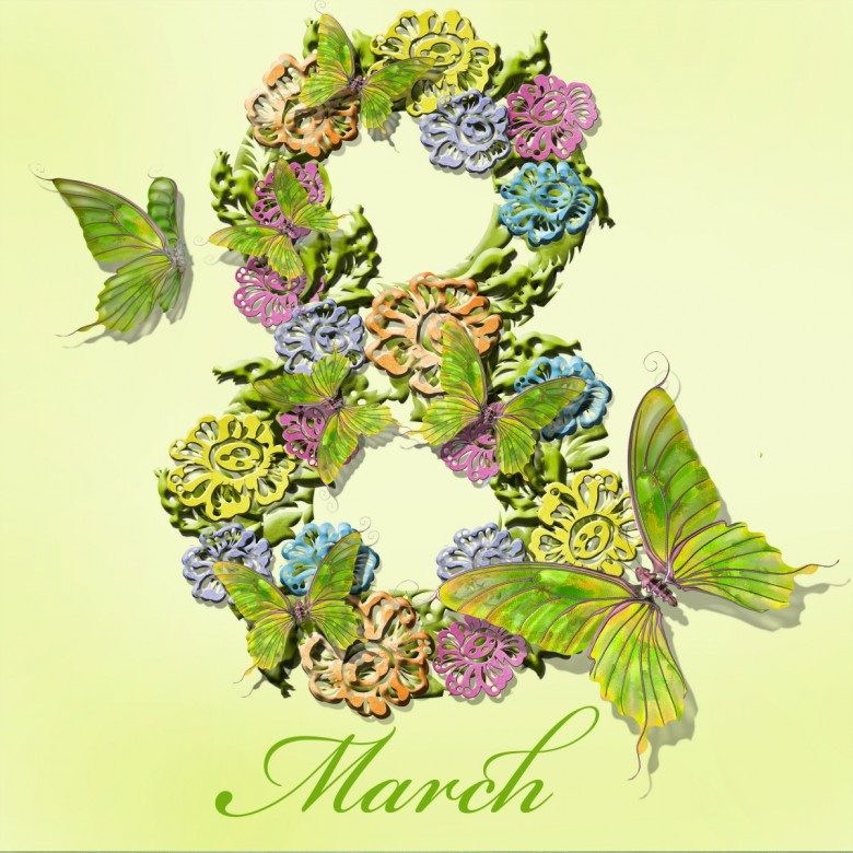 8 March Happy Women's Day Wishes Image