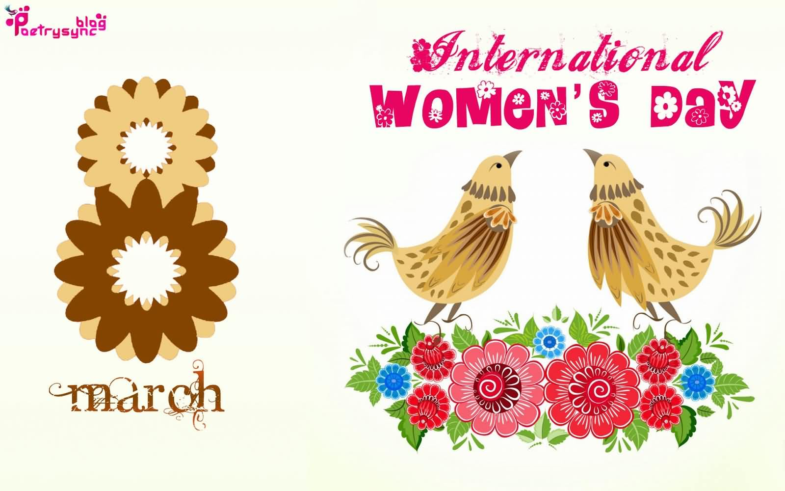 8 March International Women's Day Wonderful Greetings