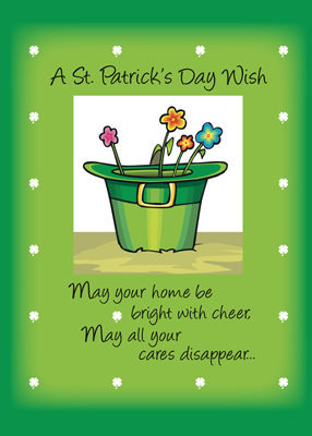 A St. Patrick's Day Wish Greetings Card Image
