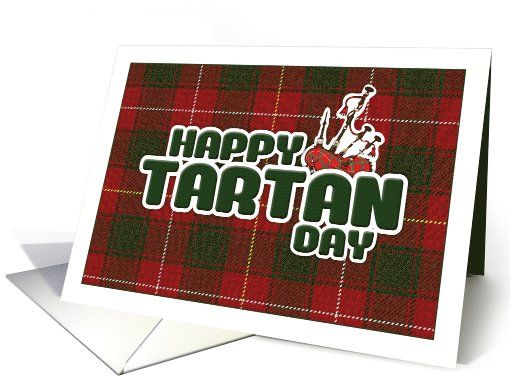 Adorable Greetings Card On Tartan Day