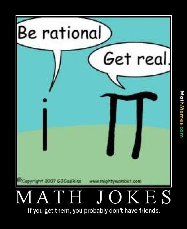 Be rational get real math jokes Math Meme