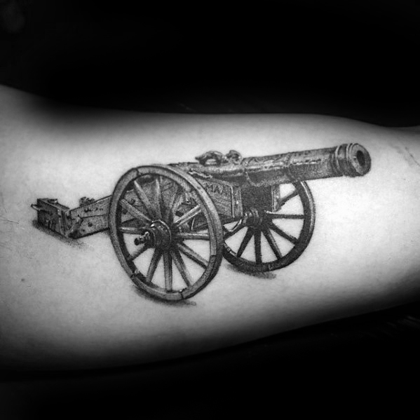 Best Ever Cannon Tattoo On Arm for Tattoo fans