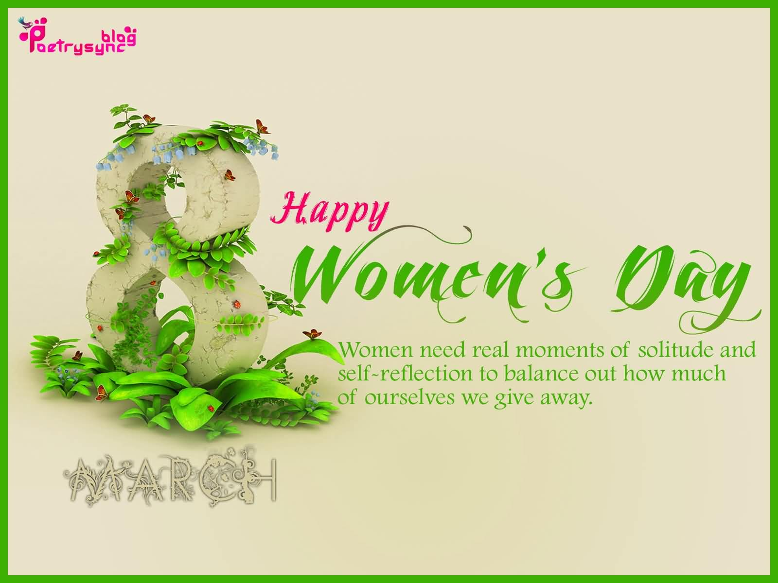 Best Wishes Happy Women's Day Greetings Quotes Image
