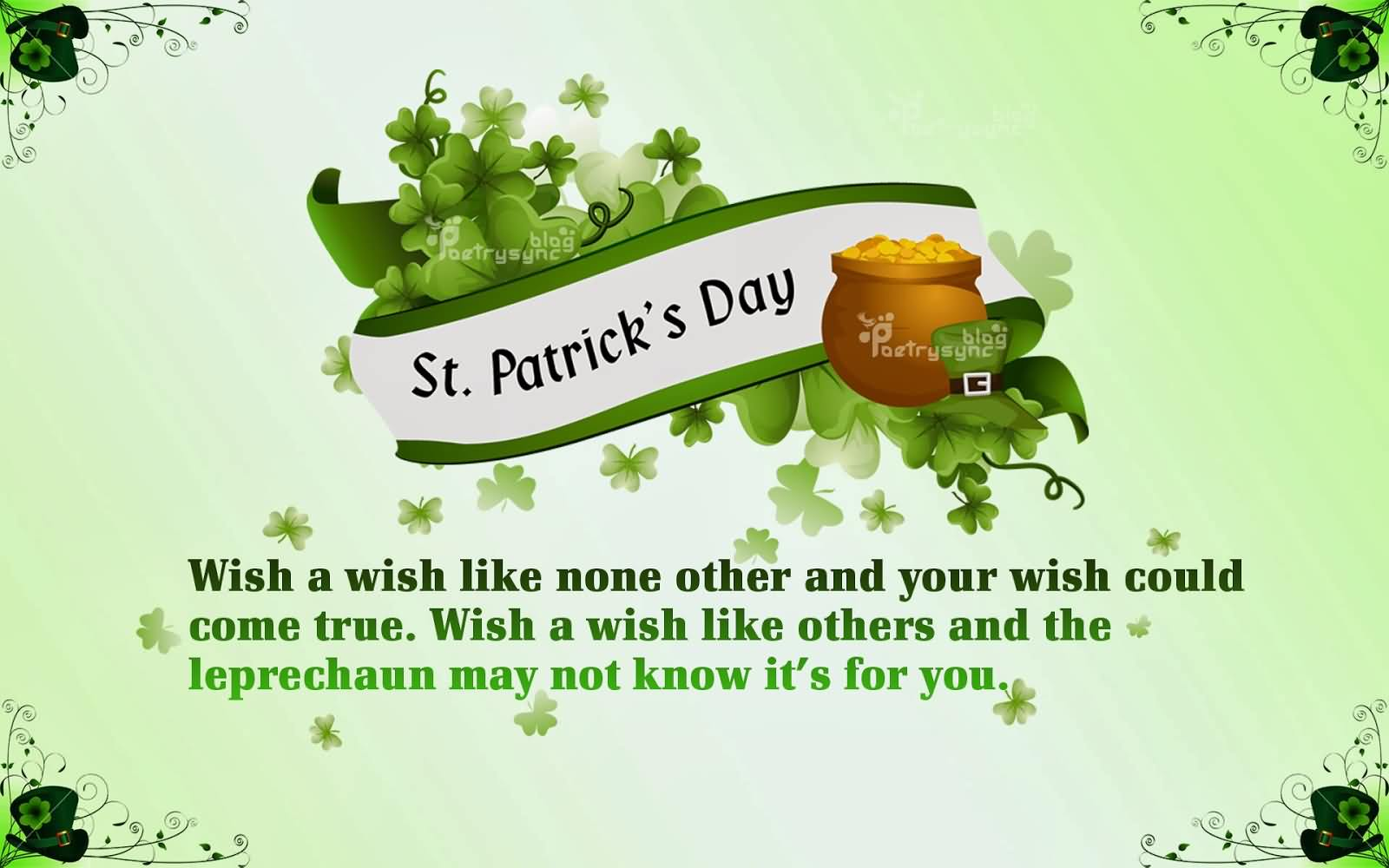 Best Wishes Have A Great Day Happy St. Patrick's Day