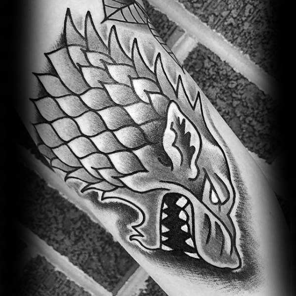 Best ever Game Of Thrones Tattoo For leg