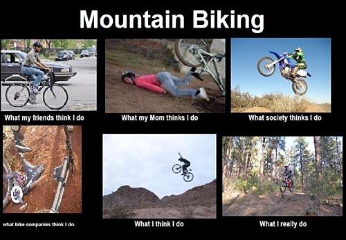 Bike Meme Mountain biking what my friends think i do