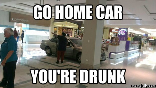 Car Meme Go home car you're drunk